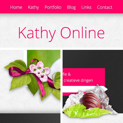 Kathy Online - sneakpeak van de nieuwe layout, webdesign, grafische vormgeving, fotografie
