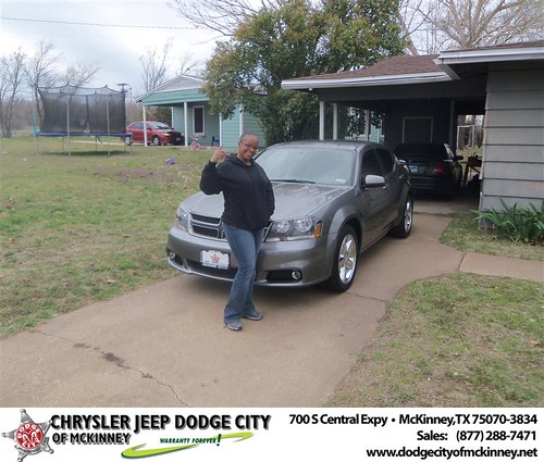 Dodge City of McKinney would like to say Congratulations to Stacee Holloway on the 2013 Dodge Avenger by Dodge City McKinney Texas