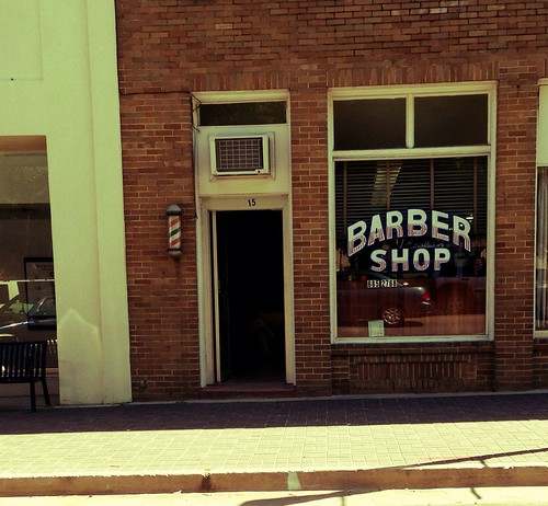 Barber Shop in downtown Metter, Georgia by danielrpartain