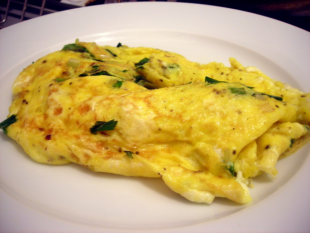 Ramp and cheese omelette
