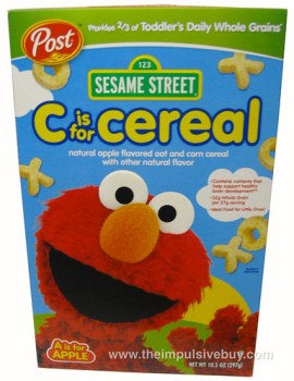 Post Sesame Street C is for Cereal A is for Apple Box