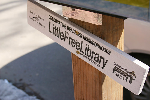 Little free library marker