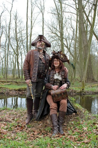 Ad and Janny the Steampunk Pirates