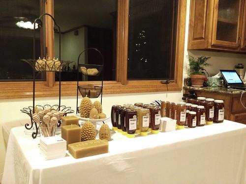 Prepping display for Artisans' Market at Williams-Sonoma at the Shops at La Cantera