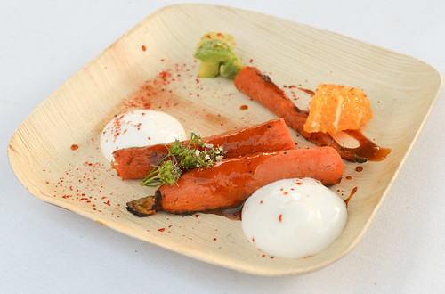 Barbecued Carrots, Smoked Mascarpone Chantilly, Candied Orange - Ludo Lefebvre (Trois Mec, LA)