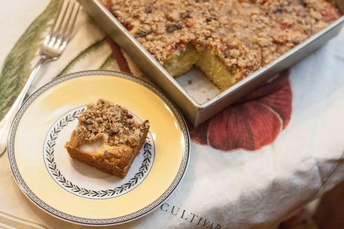 Rhubarb ricotta cake recipe