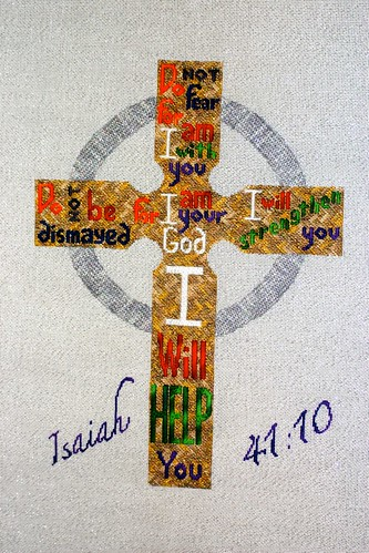 Isaiah 41:10 Stitched by Carmen CS