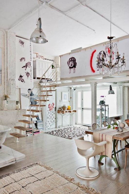 Home Tour: A Magical Bohemian Style Loft in Madrid