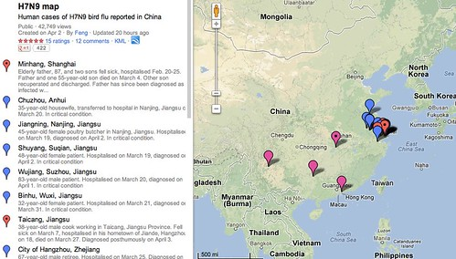 H7N9 map - Google Maps