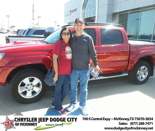 Dodge City of McKinney would like to say Congratulations to Emelda Brasuell on the 2010 Toyota Tacoma by Dodge City McKinney Texas