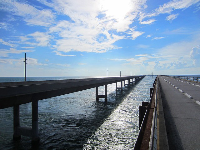 Seven Mile Bridge, where the Atlantic and Gulf Meet