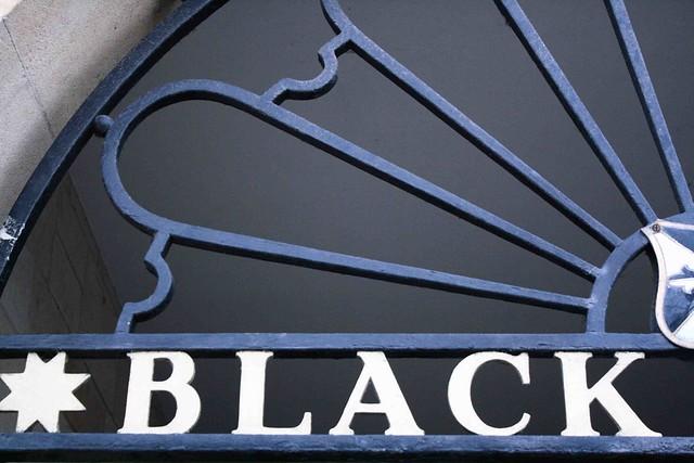 black oxford typography