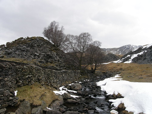 Torver Beck and quarry spoil heaps