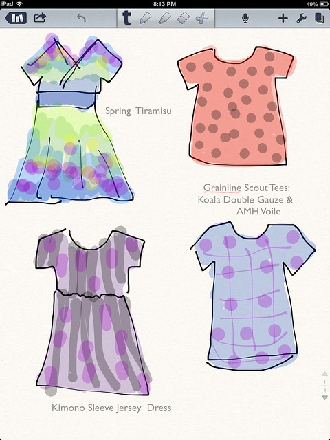 March and April Sewing