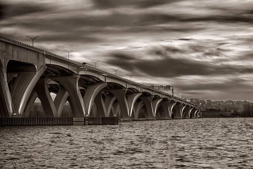 The Woodrow Wilson Bridge, Washington, DC by threewhln