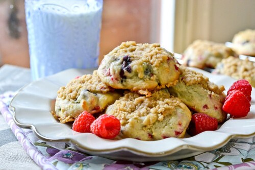 Blueberry Muffin Cookies-11