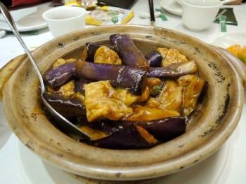 Eggplant hot pot