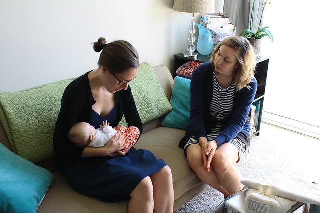 Visiting baby Auden