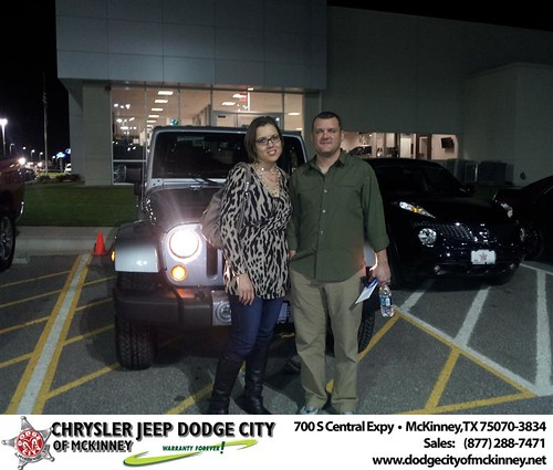 Dodge City of McKinney would like to say Congratulations to Jeanne St John on the 2013 Jeep Wrangler by Dodge City McKinney Texas