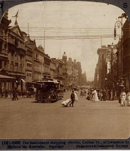 Collins Street, Melbourne, Australia - circa 1900