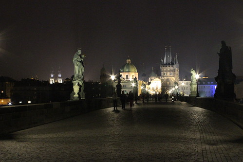 Prague's Charles Bridge at Night by Christopher OKeefe