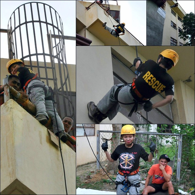 Old LIA air control tower rappel