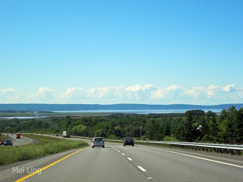 driving to Grand Pre