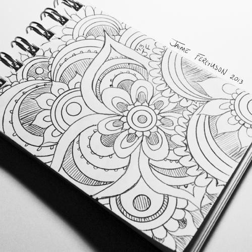 Mini Sketchbook Doodle | JaDoodles Art Blog