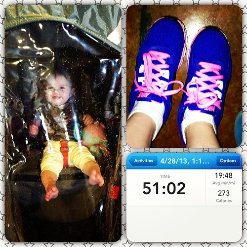 Today's workout- got caught in some wet wintery mix ☔❄, and got to break in my new shoes , cold but fun. And as soon as we got home the sun came back out and it warmed back up ☀#getfit #babyweight #healthy #butteamerica #fracturedfairytales