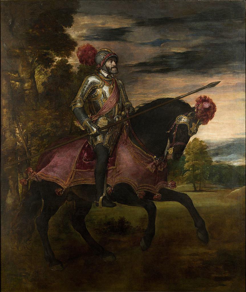 Carlos V en Mühlberg. Tiziano, Óleo sobre lienzo. 1548