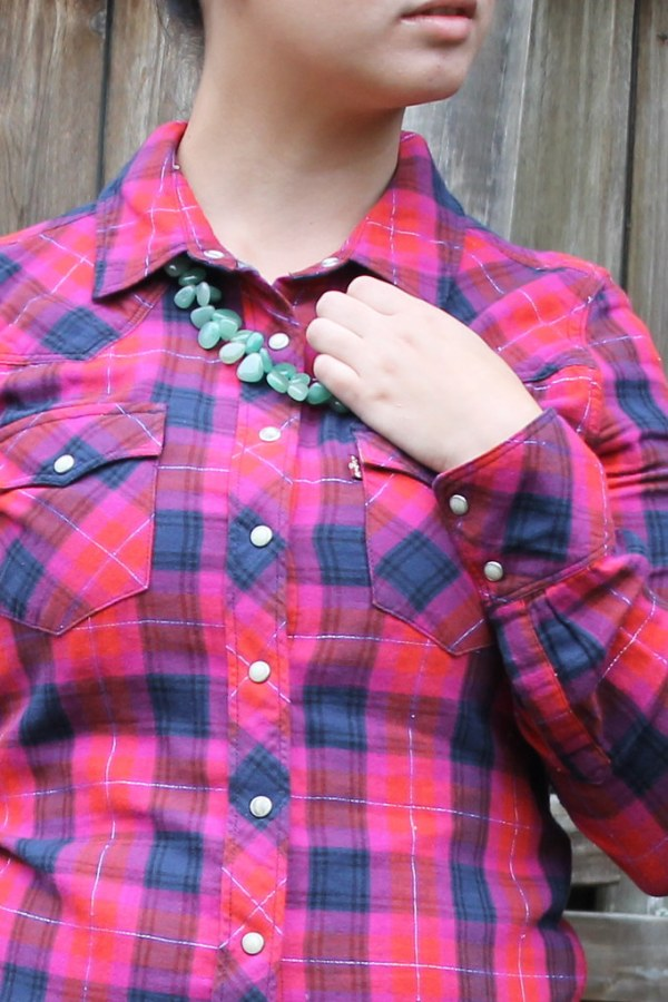 Statement Necklace and Plaid for Fall