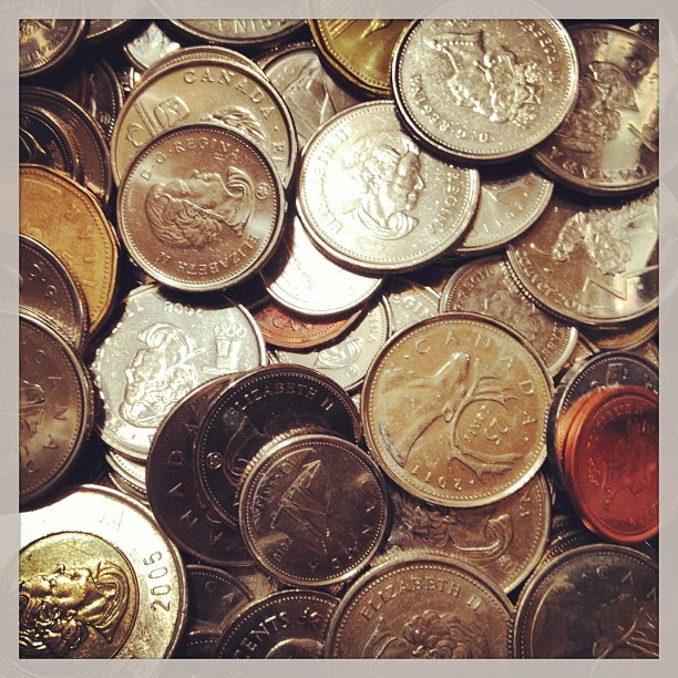 June 8 - show me the money {my bowl of spare change from pockets & handbags} #photoaday #coins #money #change