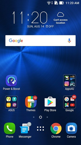Homescreen ของ ASUS Zenfone 3 ZE520KL
