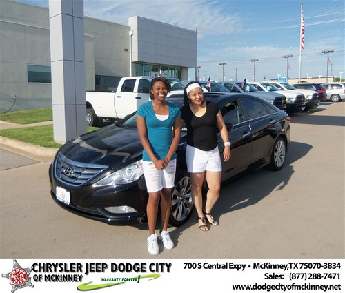 Dodge City of McKinney would like to say Congratulations to Yulanda Tittle-Eley on the 2012 Hyundai Sona by Dodge City McKinney Texas