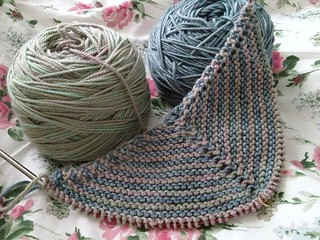 Striped Shawl Continues
