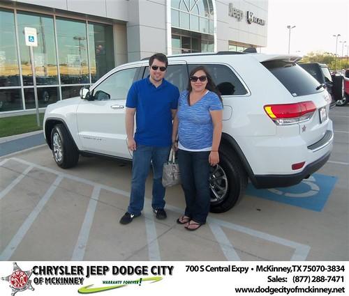 Dodge City of McKinney would like to say Congratulations to Yekaterina Strigaleva on the 2014 Jeep Grand Cherokee from Joe Ferguson by Dodge City McKinney Texas