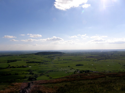 Looking over Beacon Fell towards the coast