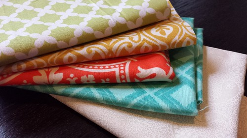 Hand Pieced Fabric Selection