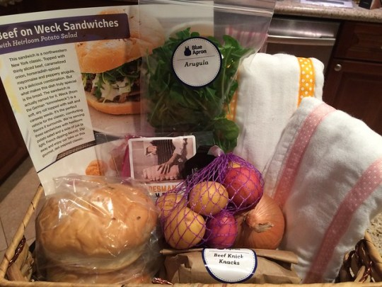 Beef on Weck Sandwiches with Heirloom Potato Salad, and baby stuff!
