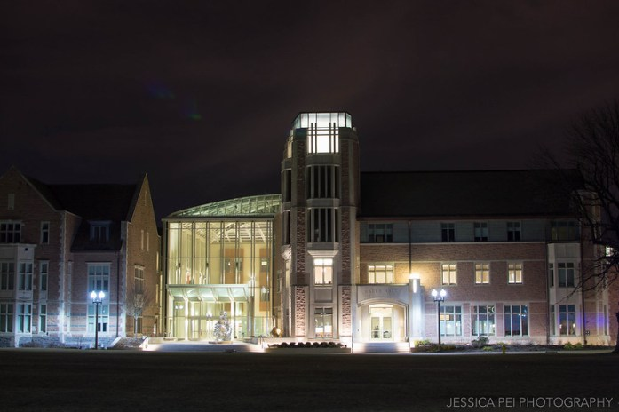 WUSTL Bauer at Night