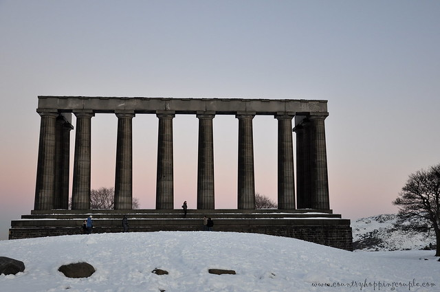 National Monument Calton Hill Snow