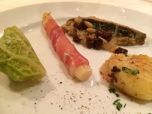フリウリ-ヴェネツィアジュリアの前菜盛り合わせ@オステリアトット