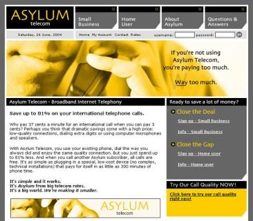 ASYLUM Telecom Site
