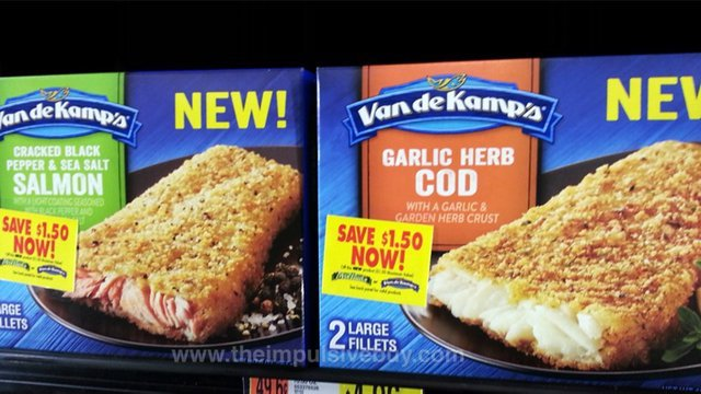 Van De Kamp's Flavor Crusted Fillets (Cracked Black Pepper & Sea Salt Salmon and Garlic Herb Cod)