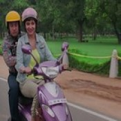 Aamir Khan Anushka Sharma On Bike PK 2014 Wallpaper - Stylish HD Wallpapers.
