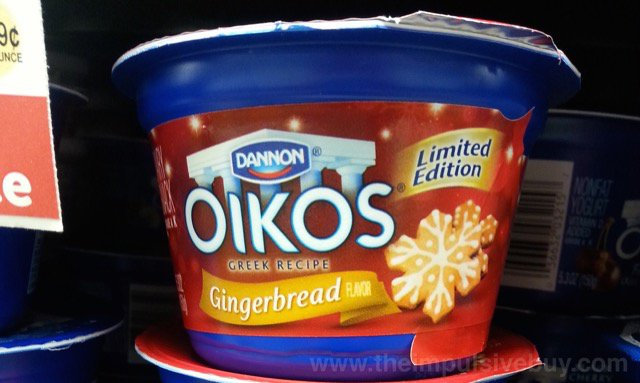 Dannon Oikos Limited Edition Gingerbread Greek Yogurt