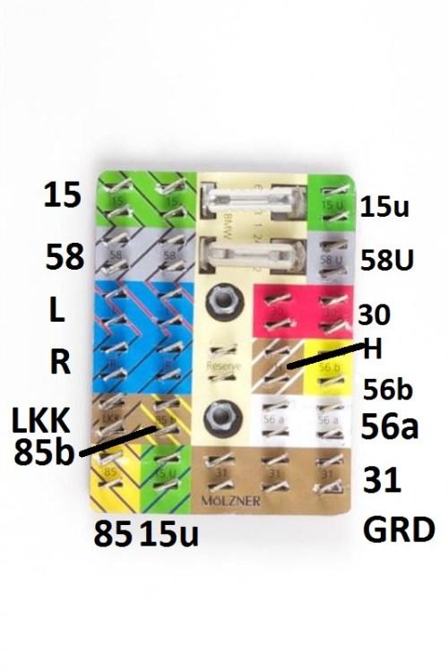Headlight Wiring Terminal Board [Source: MAX BMW]
