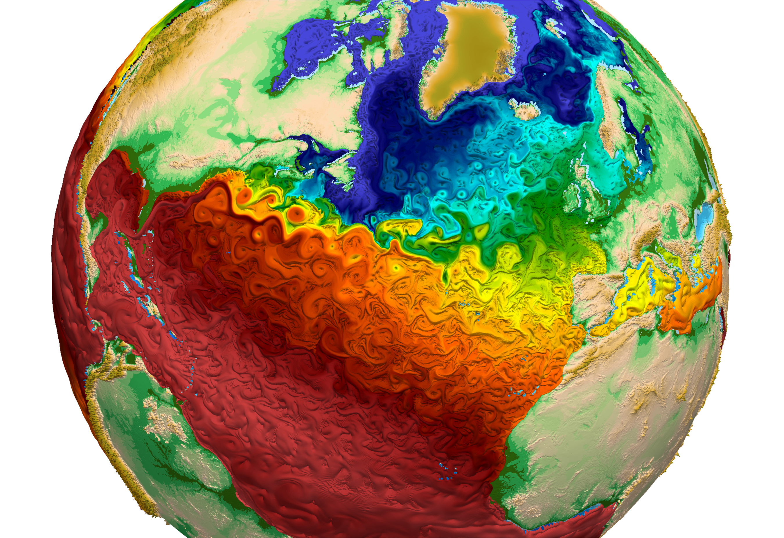 Geogarage Blog New Map Of Global Ocean Temperatures Is A