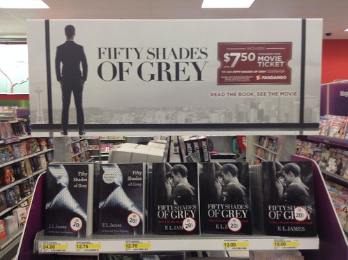 Fifty Shades of Grey Book Display at Target Stores, 1/2015, by Mike Mozart of TheToyChannel and JeepersMedia on YouTube. #Fifty #Shades #of #Grey