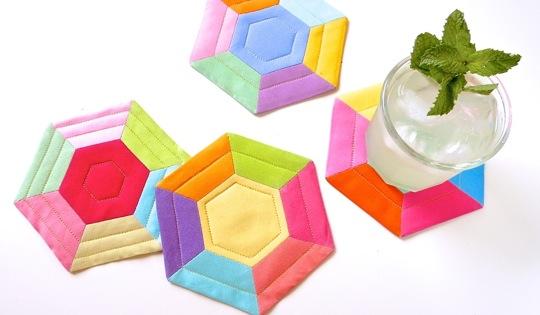Hexie Coasters